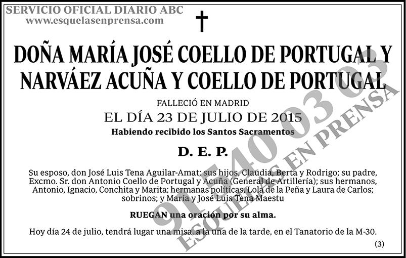 María José Coello de Portugal y Narváez Acuña y Coello de Portugal
